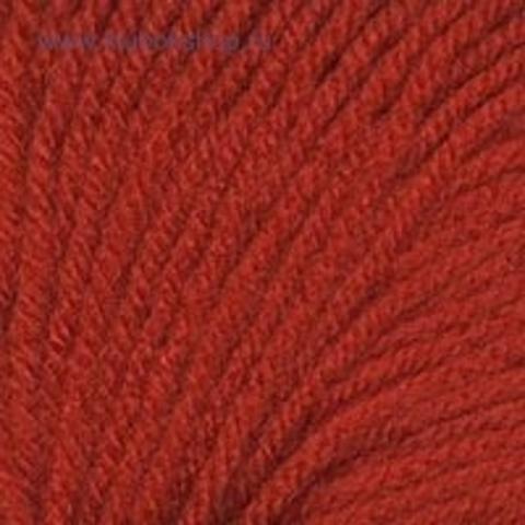 Пряжа Кроха цвет 1440 Алый Троицкая фабрика