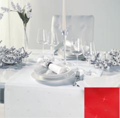 Дорожка на стол 50x140 Curt Bauer Sternenlicht красная