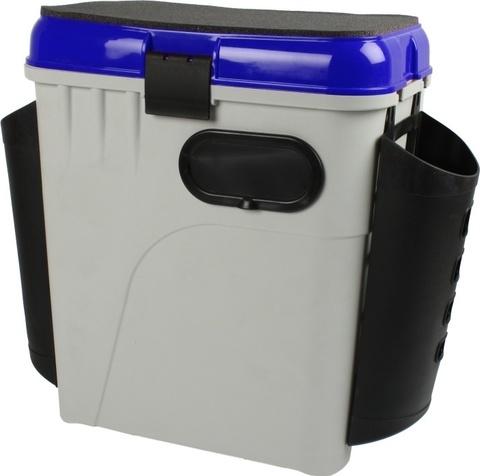 Ящик рыболовный зимний SALMO 2-х ярусный с пластиковыми карманами