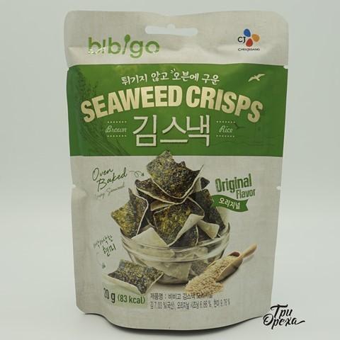 Рисовые чипсы с морской капустой BIBIGO, КОРЕЯ, 20 гр