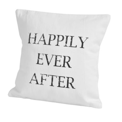 Элитная подушка декоративная Script Happily от Casual Avenue