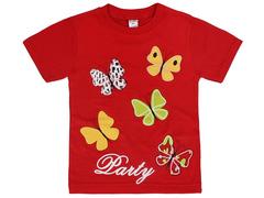 19065-8 футболка для девочек, красная
