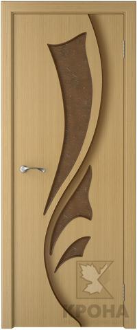 Дверь Крона Лидия, стекло дельта-бронза, цвет дуб, остекленная