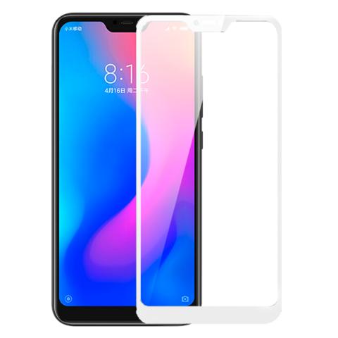 Стекло защитное 5d для Xiaomi Redmi 6 Pro (белый)
