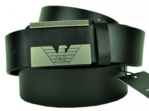 Ремень мужской для джинс чёрный Giorgio Armani (копия) 40 мм 40brend-KZ-307