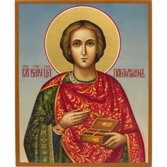 Икона Святого Пантелеймона Целителя. Рукописная икона.