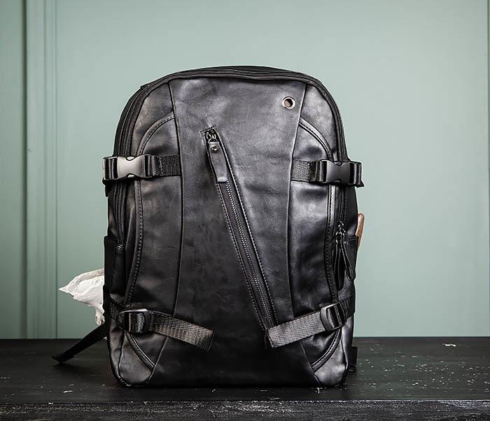 BAG483-1 Недорогой мужской городской рюкзак из кожи фото 02