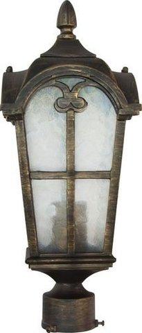 Светильник садово-парковый, 60W 230V E27 черное золото, PL104 (Feron)