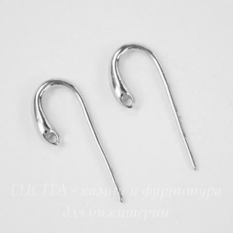 Швензы - крючки простые, 11 мм (цвет - платина), пара