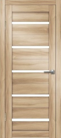 Дверь Дверная Линия Грация-1, стекло снег, цвет барон светлый, остекленная