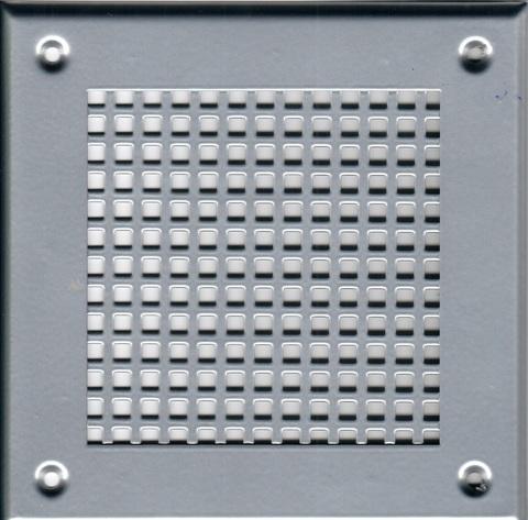 Решётка 210*210 хром, большая клетка