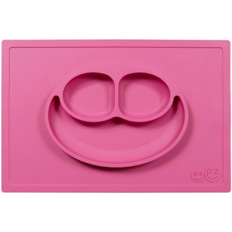 Ezpz Тарелка с подставкой Happy Mat, розовый