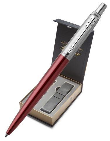 Подарочный набор с чехлом и Шариковая ручка Parker Jotter Essential, Kensington Red CT123