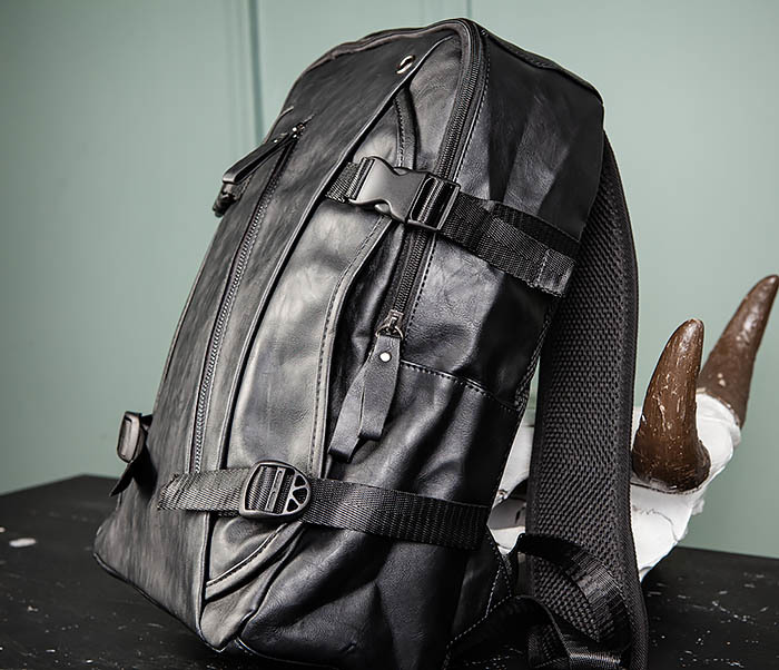 BAG483-1 Недорогой мужской городской рюкзак из кожи фото 04