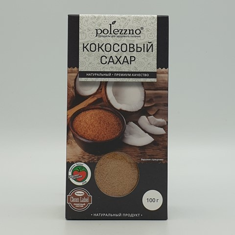 Кокосовый сахар POLEZZNO, 100 гр