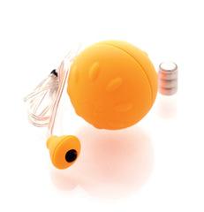 Виброяйцо с пультом на проводе, оранжевое (d. 4,5 см)