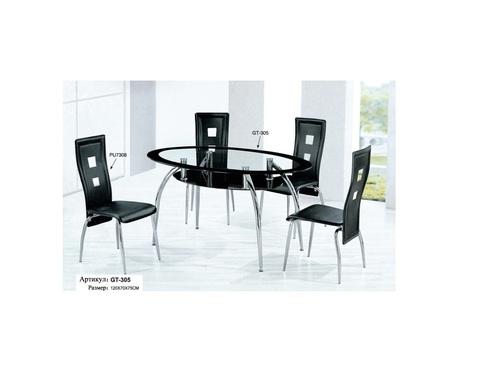Стол обеденный GT-305 овальный черный