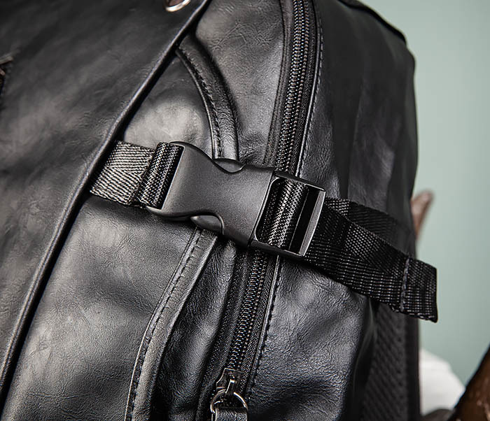 BAG483-1 Недорогой мужской городской рюкзак из кожи фото 05