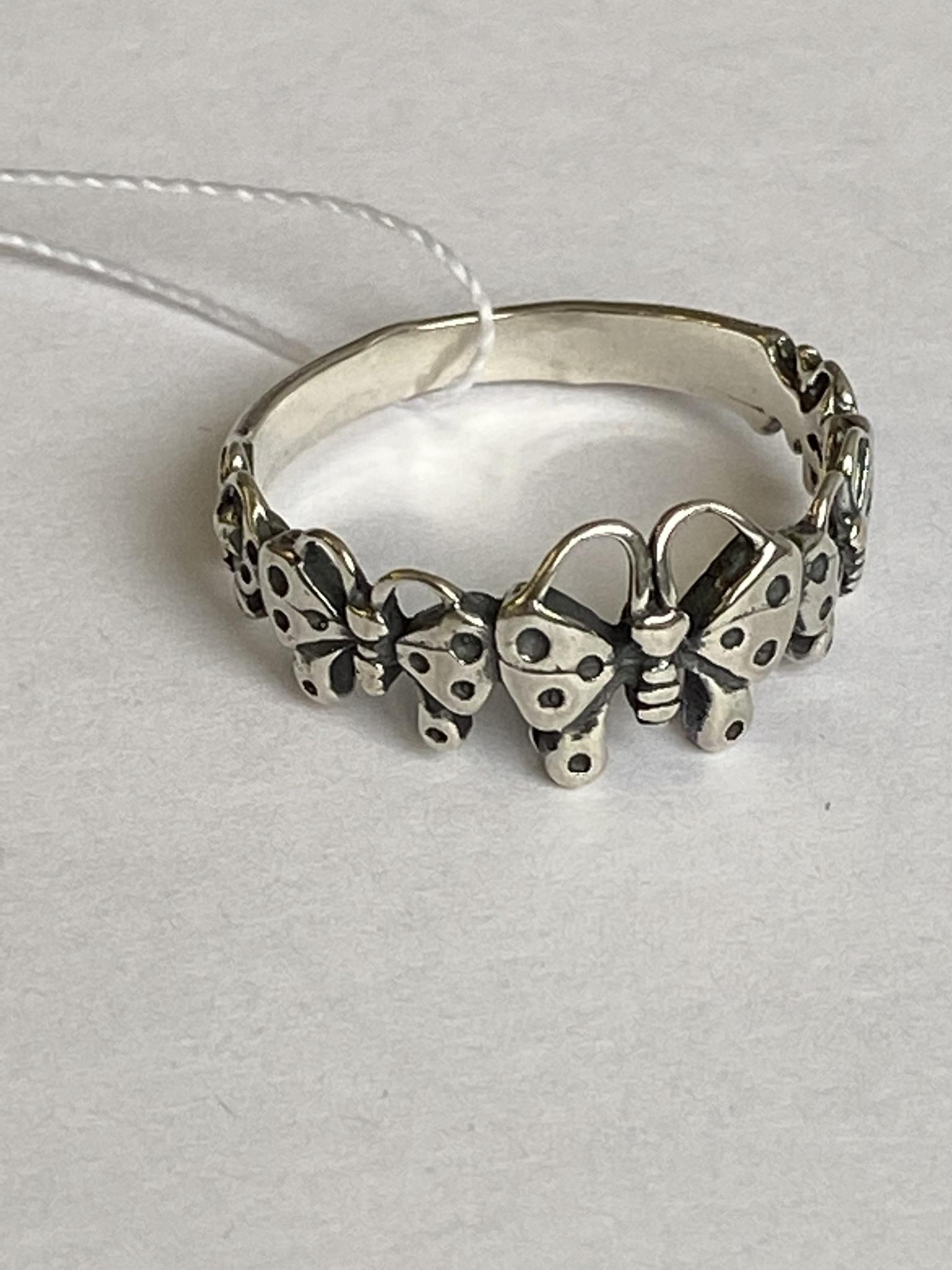 Бабочки (кольцо из серебра)