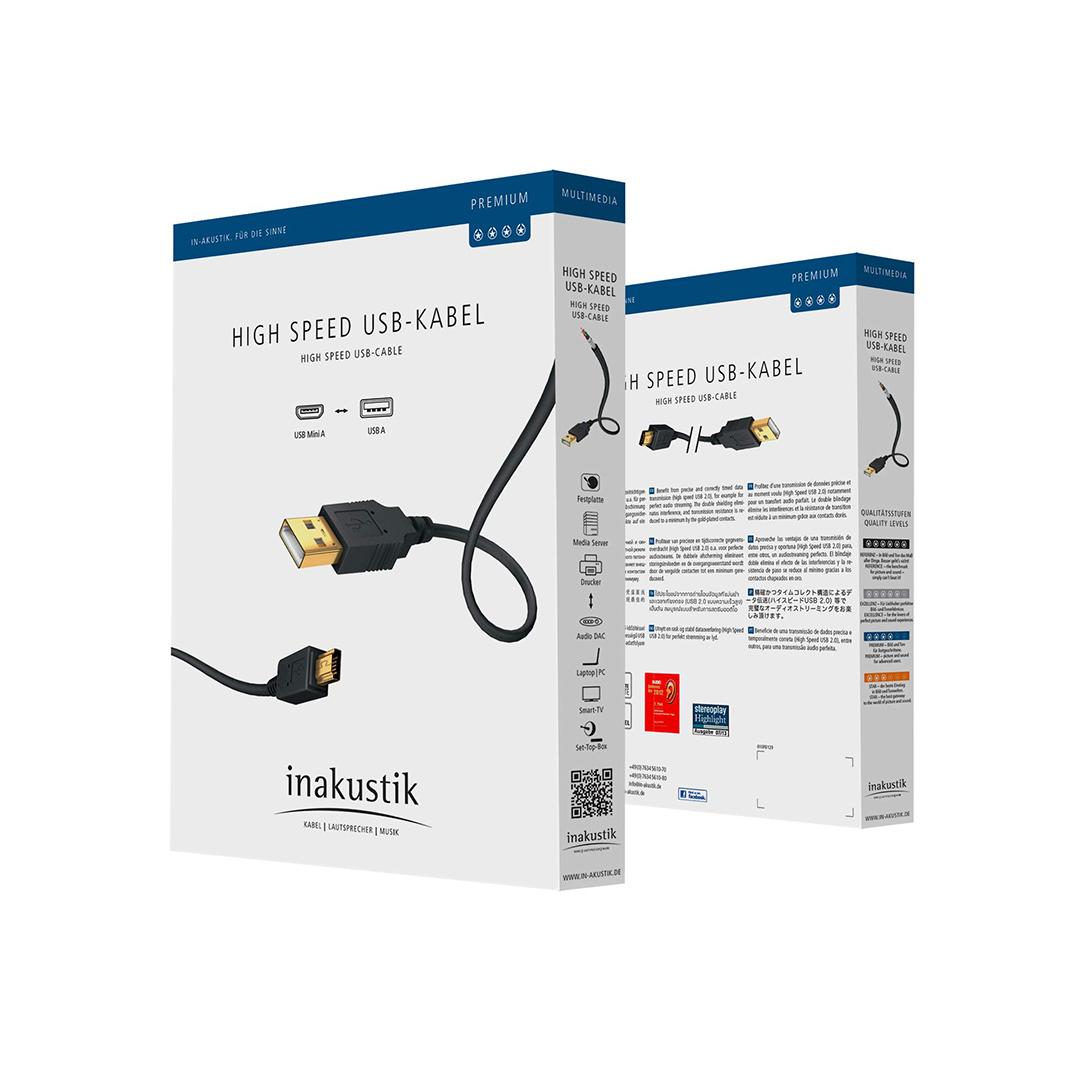 Inakustik Premium High Speed USB Mini 2.0