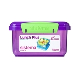 Ланч-бокс Sistema Lunch Plus, фиолетовый 1,2 л