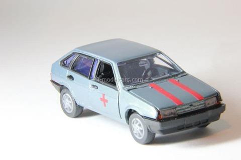 VAZ-2109 Lada Samara hatchback 5-doors medical (grey) Agat Mossar Tantal 1:43