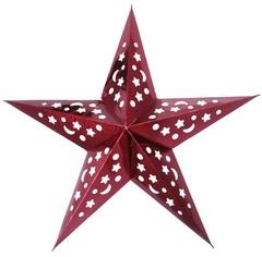 Звезда бумажная голографическая красная (60см)