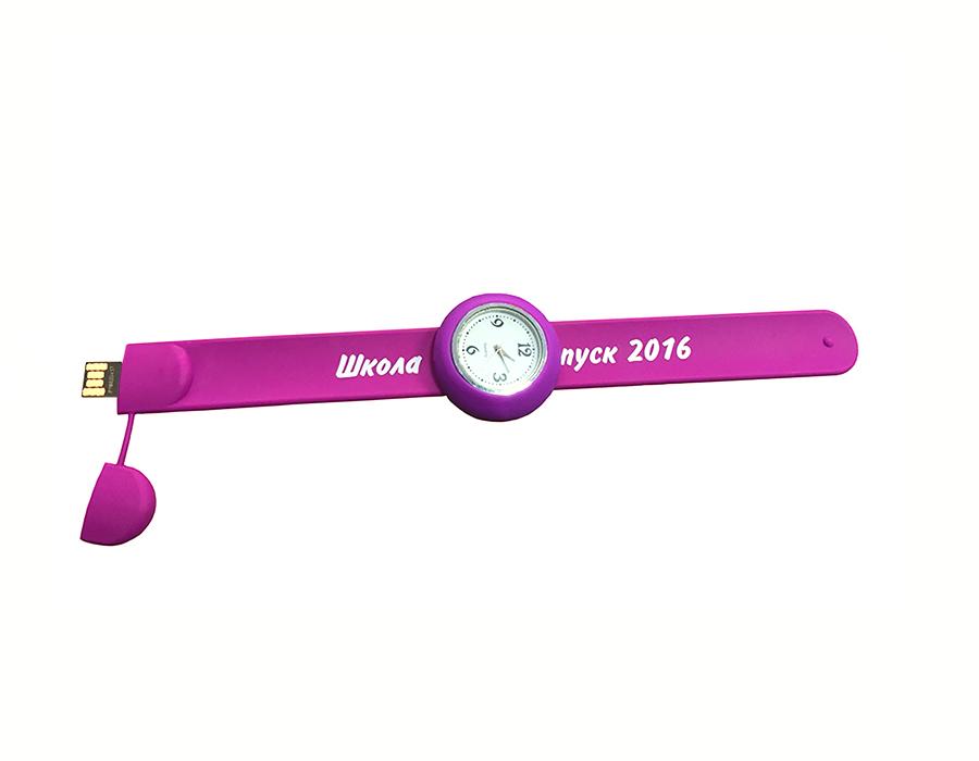 usb-флешка силиконовые часы с логотипом оптом