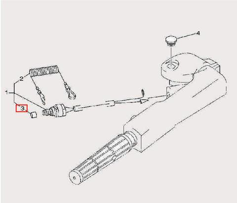 Колпачек кнопки для лодочного мотора F9,9 Sea-PRO (14-3)