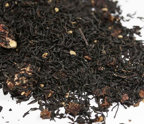TEA-AR114 Черный ароматизированный чай «Земляника со Сливками» (50 гр)