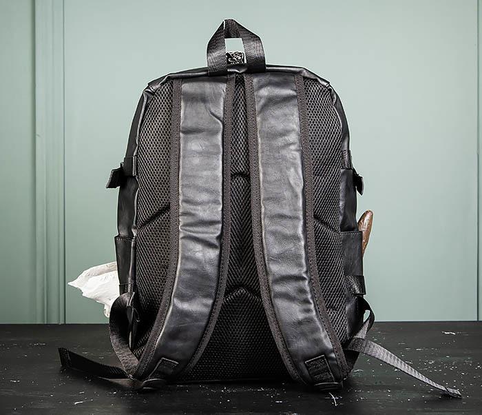 BAG483-1 Недорогой мужской городской рюкзак из кожи фото 07