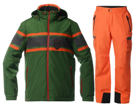 Мужской горнолыжный костюм Almrausch Staad-Hochbruck 320103-321300 зеленый