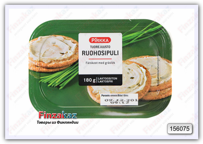 Сливочный сыр Pirkka (молодой чеснок) 180 гр