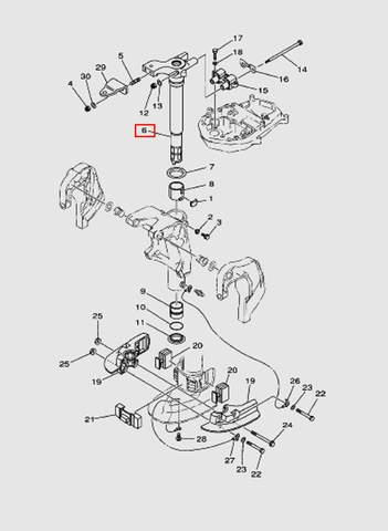 Кронштейн поворотный для лодочного мотора T40 Sea-PRO (20-6)