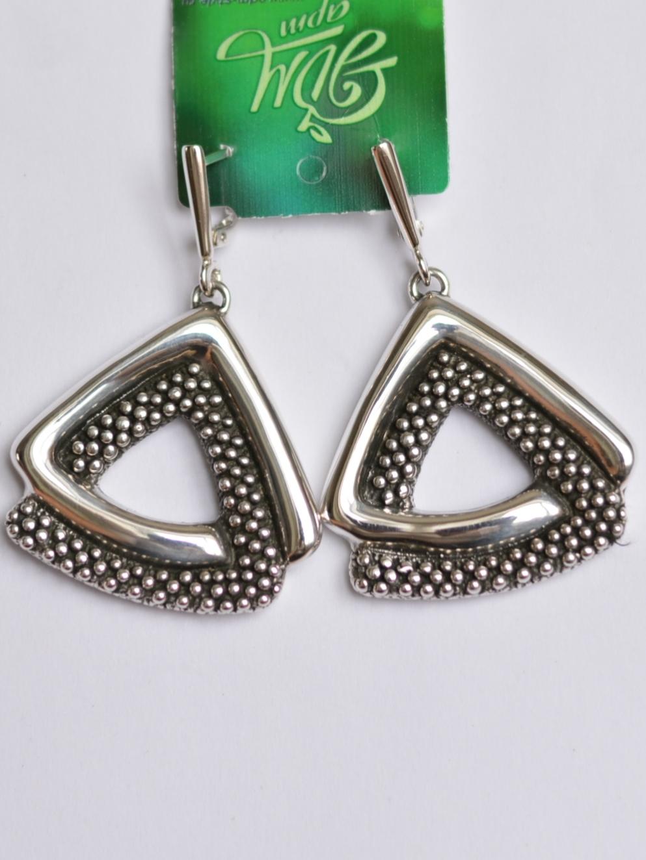 Треугольник (серьги из серебра)