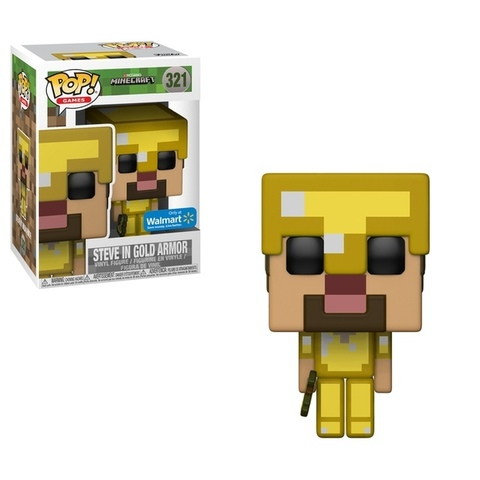 Фигурка Funko Pop! Games: Minecraft - Steve in Gold Armor (Excl. to Walmart)