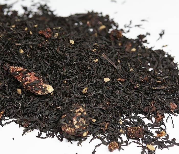 TEA-AR114 Черный ароматизированный чай «Земляника со Сливками» (50 гр) фото 02