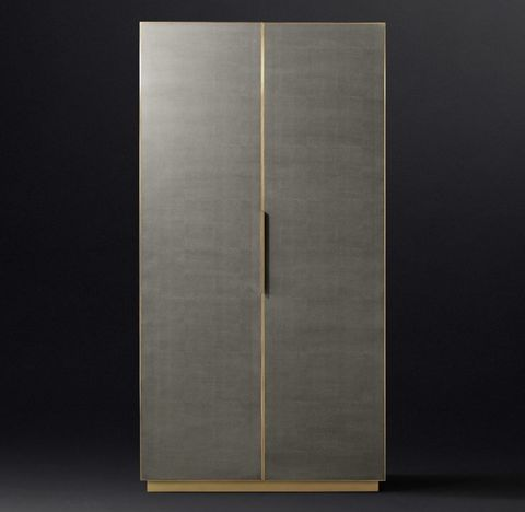 Cela Shagreen Panel Double-Door Cabinet