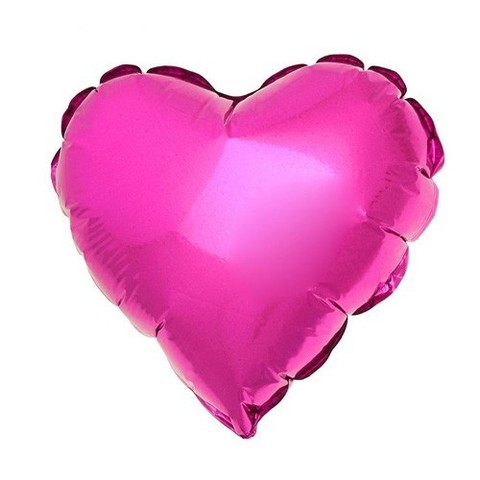 Сердце Металлик Розовый (46 см)