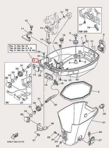 Поддон в сборе для лодочного мотора F9,9 Sea-PRO (16-1)