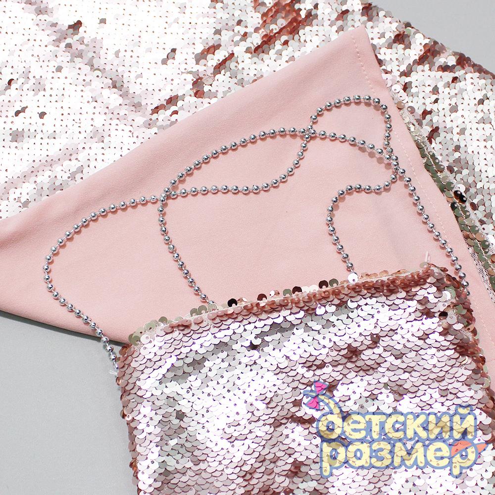 4887a99bef65 73297 Платье с двойными пайетками и сумочкой для подростков