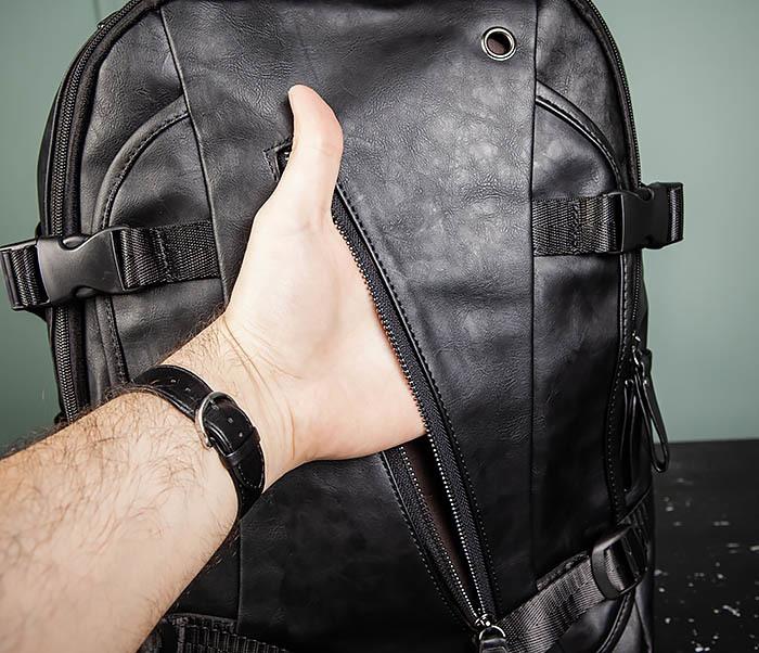 BAG483-1 Недорогой мужской городской рюкзак из кожи фото 09