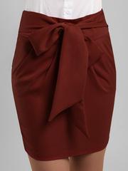 2030 юбка бордовая