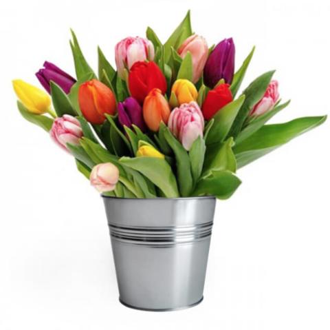 Декоративное оцинкованное ведерко для цветов (7л)