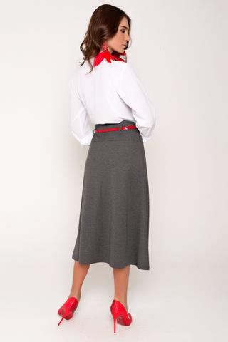 """Шикарная трикотажная юбка, длина """"миди"""" для особого выхода. По переду кокетка со складками. Сбоку замок. """"Шлёвки"""" для пояса. (Пояс с стоимость не входит, можно приобрести в разделе """"аксессуары"""")."""