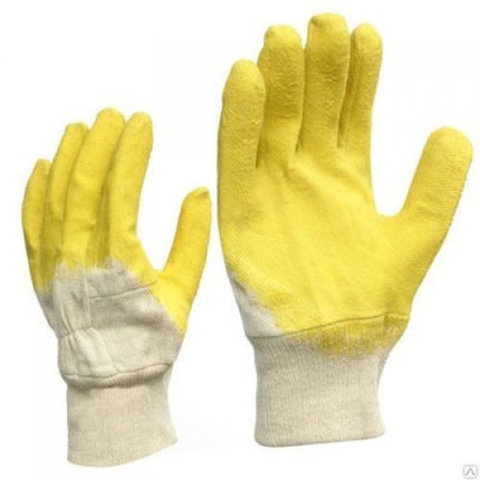 Перчатки прорезиненные (желтые)