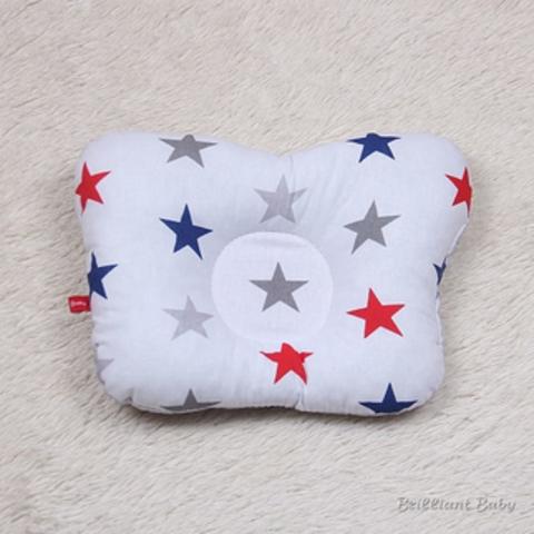 Детская подушка бабочка Звезды (сине красные)