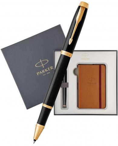 Подарочный набор: Блокнот и Ручка роллер Parker IM Black GT123