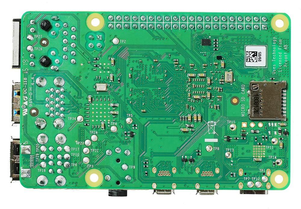 RPi 4 (2GB) - вид снизу