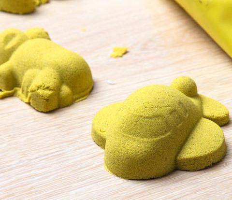 Космический песок 3 кг, желтый 3